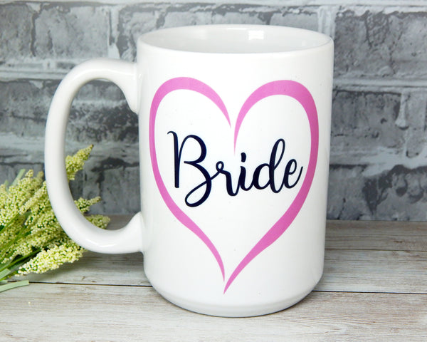 bride coffee mug gift for bridal shower engagement gift