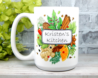Name Kitchen Mug Personalized for Cook Coffee cup