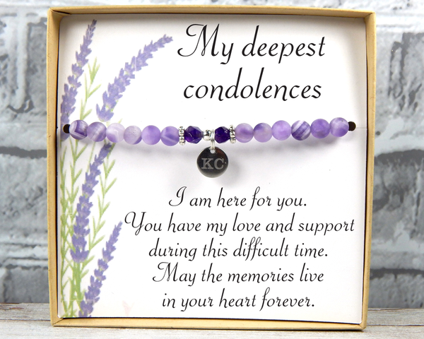 Sympathy Jewelry - Gift For Loss - Remembrance Bracelet - Condolence Gift