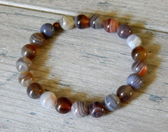 natural agate beaded gemstone bracelet