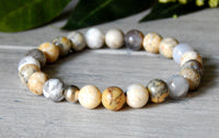 beaded agate gemstone jewelry bracelet
