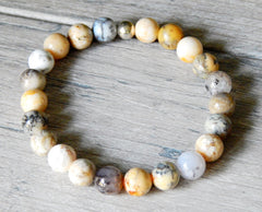 8mm agate bracelet natural stone jewelry