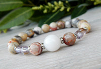 agate beaded gemstone bracelets