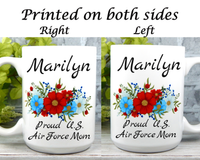 Personalized Air Force Mom Mug - Air Force Mom Gifts - Military Mugs for Moms