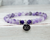 amethyst bracelet with engraving