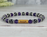 amethyst bracelet for women strength gift