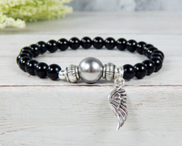 angel wing bracelet remembrance jewelry for women