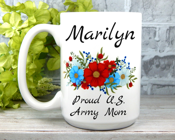 Personalized Army Mom Mug - Army Mom Gifts - Military Mugs for Moms