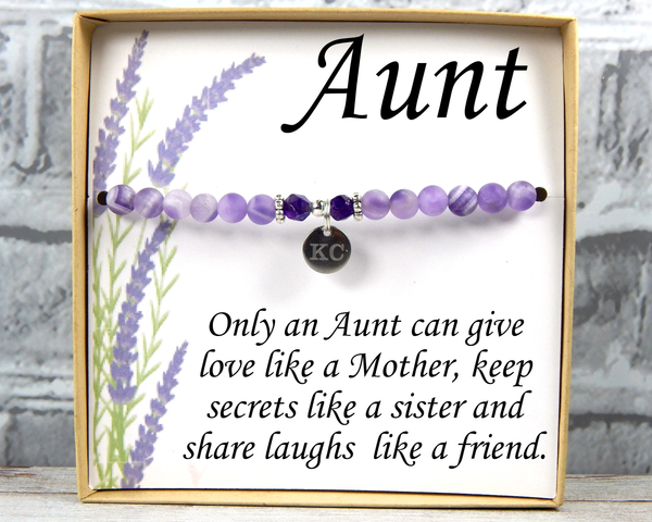 Aunt Gift - Aunt Bracelet - Personalized Gift for Aunt - Birthday Gift for BAE