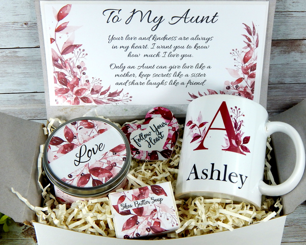 personalized gift basket for aunt