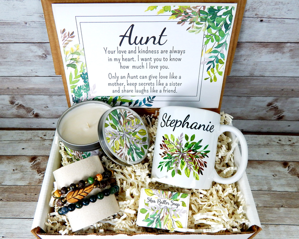 aunt gift basket for cool aunt birthday nature themed