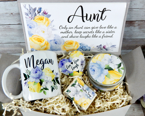 auntie gift basket for aunt birthday