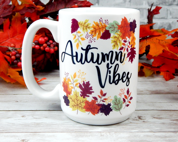 fall coffee mug autumn vibes coffee cup