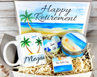 beach themed retirement gift basket