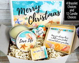 beach themed christmas gift basket