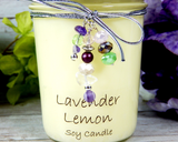 lavender decorative candle