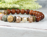 agate gemstone bracelet for women