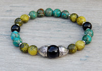 gemstone beaded boho bracelet