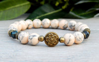 nature bracelets with flower beads