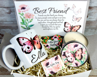 Best Friend Gift Butterfly Theme with Personalized Mug