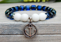 blue and white classic nautical jewelry