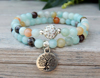 amazonite yoga bracelet stacking