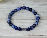 blue beaded bracelet for men