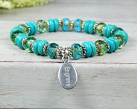 turquoise bracelet custom engraved jewelry