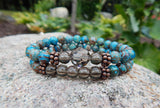 artisan jewelry blue beaded bracelets for women