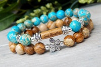 message bracelet with butterfly charm