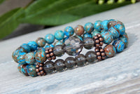 beaded gemstone bracelets for women