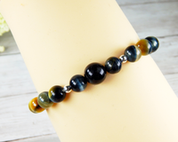 beaded tiger eye gemstone bracelet