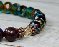 boho beaded unique artisan bracelet handmade jewelry
