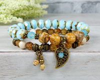 boho chic bracelet nature jewelry for women