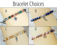 bracelet choices for sorry for loss gift basket