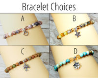 bracelet choices for inspirational gift basket