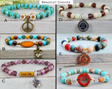 bracelet choices for hippie gift basket