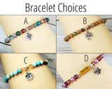 bracelet choices for live your best life gift basket