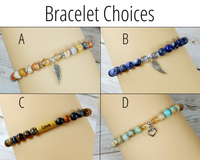 bracelet choices for loss of mother