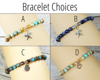 beach theme bracelet choice