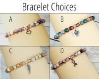 bracelet choices for breast cancer fighter gift basket