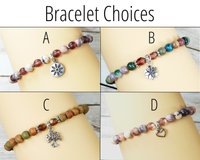 bracelet choices for encouragement gift basket