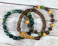 stacked bracelet set for nature lover