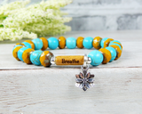 message breathe bracelet yoga jewelry lotus flower bracelet