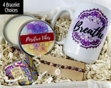 Positive Vibes Gift Basket - Pick Me Up Gift Box - Breathe Stress Relief Gifts