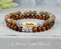 boho stacked yoga beaded bracelets