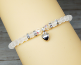 bride bracelet white sea glass bracelet