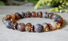 brown bead bracelet earthy nature jewelry