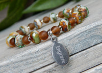 earthy jewelry custom engraved bracelet