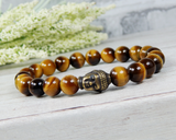 mens tiger eye buddha bracelet yogi jewelry buddhist